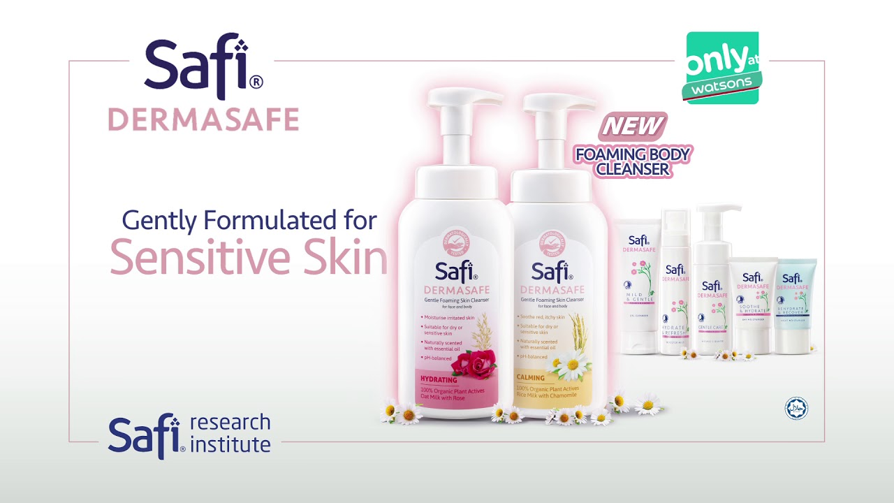 SAFI DERMASAFE gently formulated for sensitive skin.