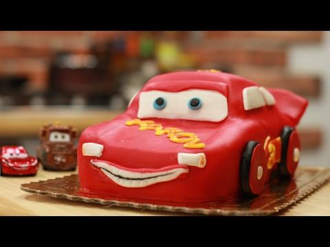 Tort Autko Zigzag, Disney Lightning McQueen , Cars Cake Tutorial ,  Jak Zrobić Tort ?