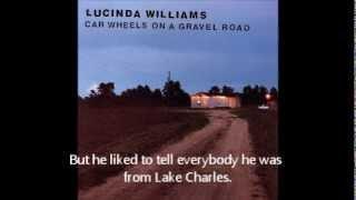 Lake Charles Lucinda WilliamsYouTube