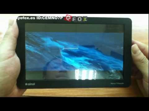 Android 4.0 tablet.Ice cream (unboxing) Ainol NOVO7 Paladin XBurst JZ4770