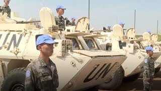 Chinese UN peacekeepers pass equipment test in S. Sudan