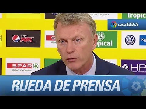 Rueda de prensa de David Moyes tras el UD Las Palmas (2-0) Real Sociedad