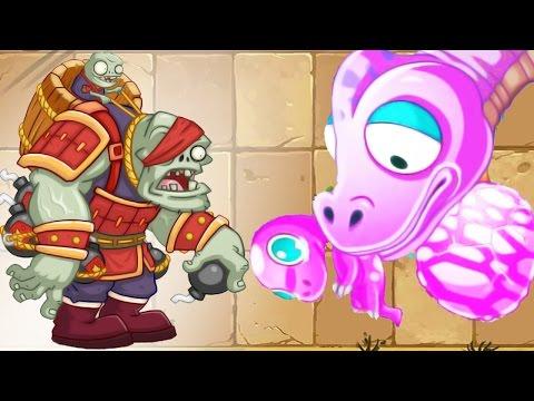 Plants vs Zombies 2: Jurassic World Plants vs Kung Fu World ZomBOSS ! Chinese Version