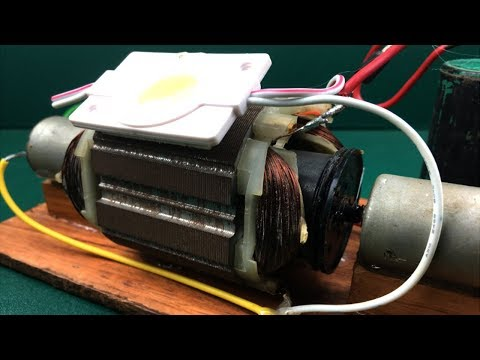 Make free energy electricity by Using DC motor generator 220 Volts at home - New DIY experiment easy thumbnail