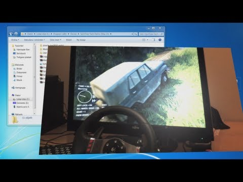 How to set up Steering wheel - Spin Tires tech with Logitech G27. install guide tutorial. 2013