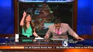 KTLA Anchors React to Earthquake