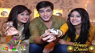 Mohsin, Shivangi and Kanchi aka Kartik,  Naira and Gayu's unique DIWALI CELEBRATION