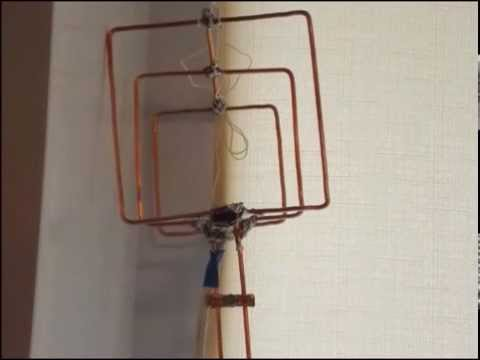 Как самому сделать комнатную антенну для телевизора видео