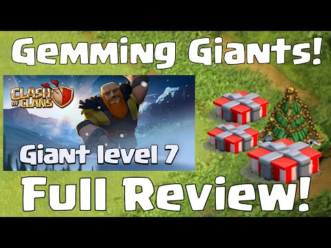 Clash Of Clans GEMMING GIANTS LEVEL 7   Christmas Update Full Review
