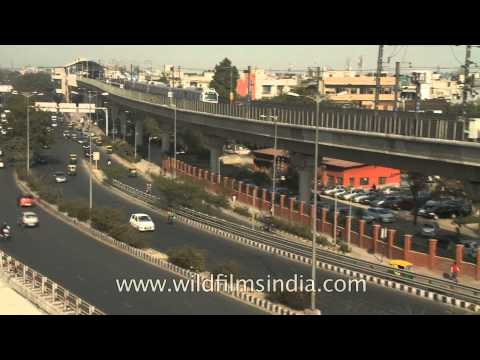 Roads and metro network near Lajpat Nagar in Delhi