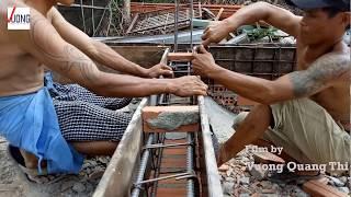 Các bước cơ bản khi xây nhà cấp 4  đóng cofrage đà kiềng móng cốp pha