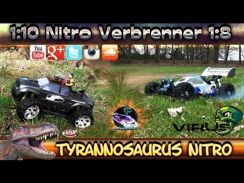 Tyrannosaurus Monster & Virus Buggy - Nitro Verbrenner ( Let's Drive )