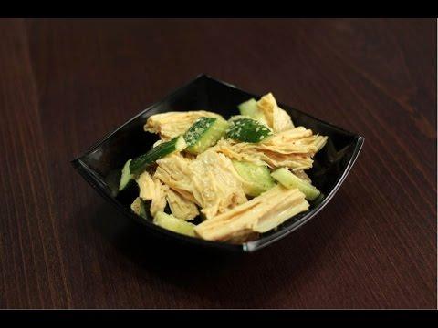 Рецепт салата из спаржи с огурцами