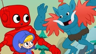 Morphle meets the Scary Mountain Giant + Dinosaurs, Monsters and Dragons