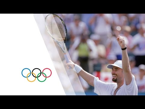 Enjoy some fantastic tennis from Andre Agassi in these Men's Singles highlights from the Atlanta 1996 Summer Olympic Games. Athletes featured in this video :...