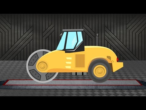 Road Roller | Construction Vehicle | Vehicles for Children