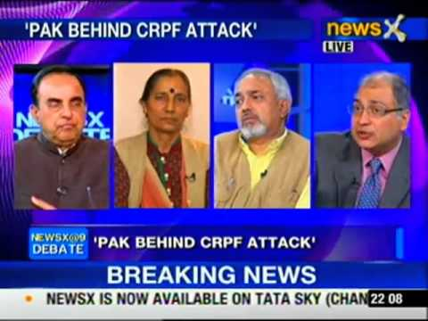 Dr Subramanian Swamy in NewsX debate about Pakistan's Terror gamble
