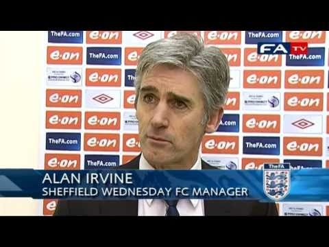 Alan Irvine speaks to FATV after Sheff Wed v Hereford