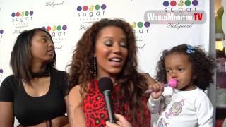 Melanie Brown aka Mel B and family arrive at Sugar Factory Hollywood Grand Opening