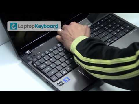 Acer Aspire 5536 7740 5251 Laptop Keyboard Installation Replacement  Guide - Remove Replace Install