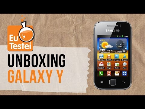 Smartphone Samsung Galaxy Y - Unboxing Brasil