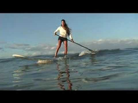 Stand Up Paddle surfing- SUP HOW- TO catch waves