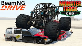 BeamNG Drive Bigfoot CRD Monster Truck Crushing Cars