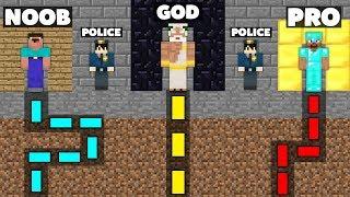 Minecraft Battle: NOOB vs PRO vs GOD : SECRET MAZE PRISON ESCAPE Challenge in Minecraft Animation