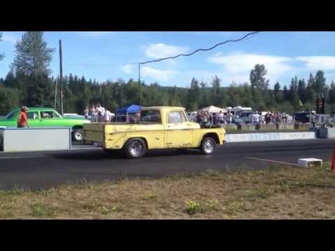 50' FORD ALTERED WHEELBASE VS. DODGE PICKUP BILLETPROOF ERUPTION DRAGS TOUTLE, WA 2013