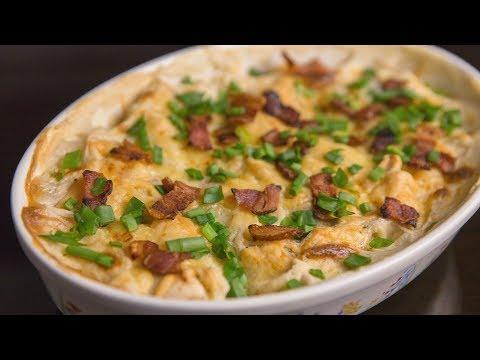 Картофельная запеканка или вареники с картошкой запеченные под сыром в духовке
