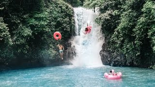 SLIDING BALI WATERFALLS WITH FLOWTS    vlog 008