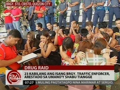 24Oras: 23 kabilang ang isang brgy. traffic enforcer, arestado sa umano'y shabu tiangge