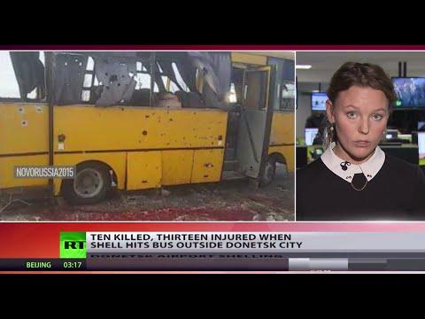 Ukraine Flashpoint: Donetsk bus attack leaves atleast 10 dead