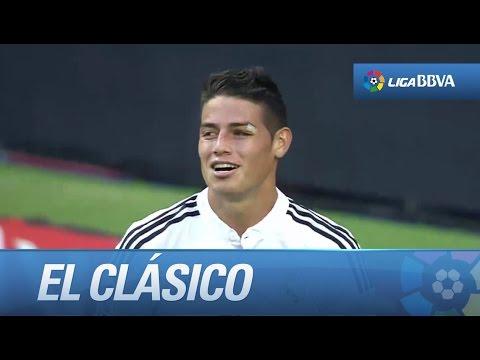 Seguimiento a James Rodríguez en El Clásico