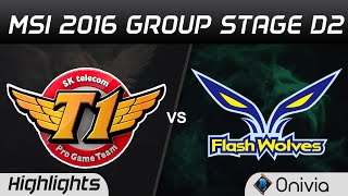 SKT vs FW Highlights MSI 2016 D2 SK Telecom T1 vs Flash Wolves
