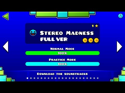 Geomtry Dash : Stereo Madness (FULL VER) All Coin / ♬ Partition