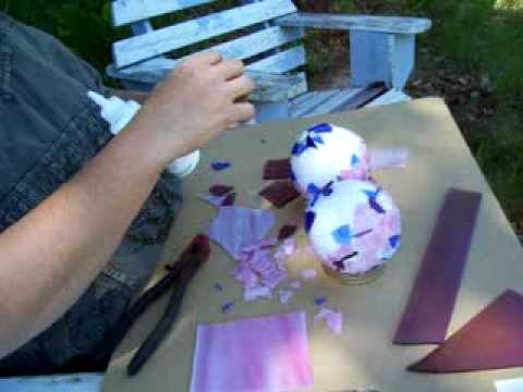 Nancy Today: Mosaic balls How to make, pt 3
