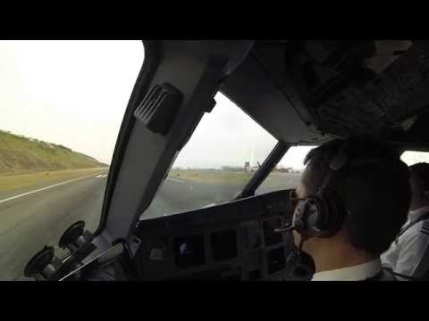 A pilot's eye view of a British Airways approach into Funchal