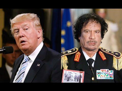 Trump Flip-Flops On Gaddafi THREE TIMES