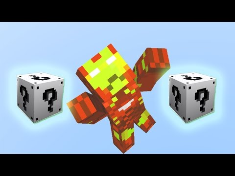 MInecraft IRON MAN WHITE LUCKY BLOCKS MOD