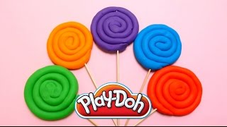 Play-Doh Lollipops with Surprise Eggs Fun