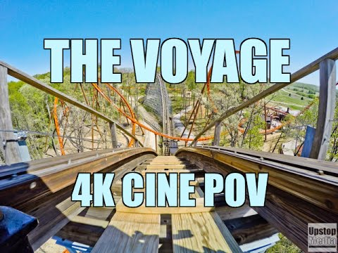 The Voyage. Top 10 Roller Coaster. 4K CINE POV. Holiday World