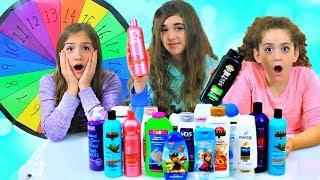 Mystery Wheel of Don't Choose the Wrong Shampoo Slime Challenge!