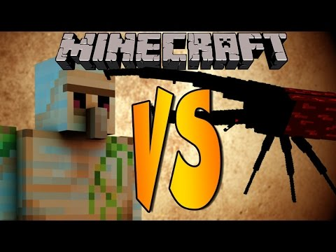 SUPER BEATLE VS EJÉRCITO IRON GOLEM - Minecraft Batallas de Mobs - Mods