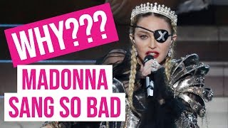 Vocal Coach Analysis of Madonna's LIVE Performance on the Eurovision 2019 Contest