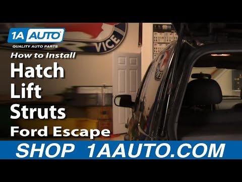 How To Install Replace Rear hatch Lift Struts Ford Escape 2001-07 Mercury Mariner