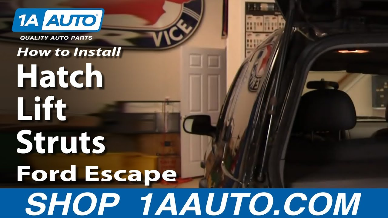 How To Install Replace Rear Hatch Lift Struts Ford Escape