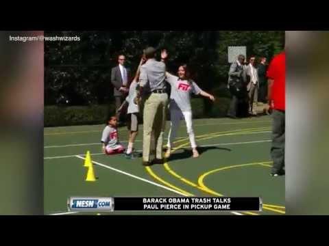Barack Obama Trash-Talks Paul Pierce In Pickup Game