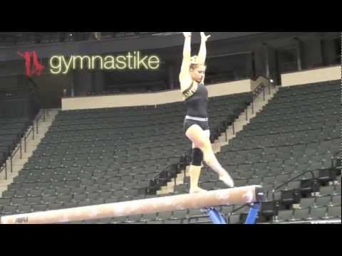 Shawn Johnson Beam Podium Training Visa Championships 2011