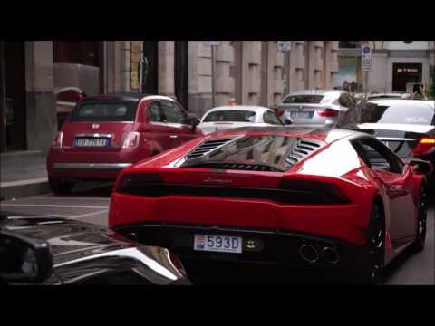 CARSPOTS IN MILAN : Lamborghini huracàn by Donze093, Aventador and Jaguar F-Type R